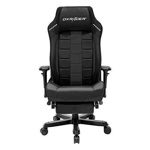 DXRacer Classic Series DOH/CA120/N Big and Tall Chair Racing Bucket Seat Office Chair with Leg Rest Comfortable Chair Ergonomic Computer Chair Desk Chair (Black)