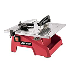 """Skil 3540-02 7"""" Wet Tile SawComplete tiling projects easily with the model 3540, 7 in. Wet Tile Saw. The stainless steel top resists corrosion and the adjustable rip fence with miter gauge ensures accurate straight and miter cuts.Skil 3540-02..."""