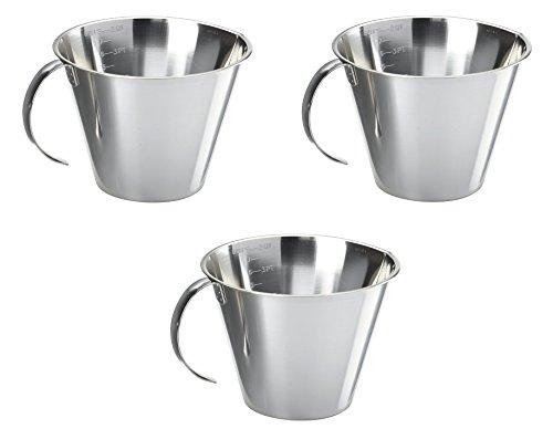 Linden Sweden Stainless Steel 8-Cup Measuring Cup, Set of 3 by Linden Sweden