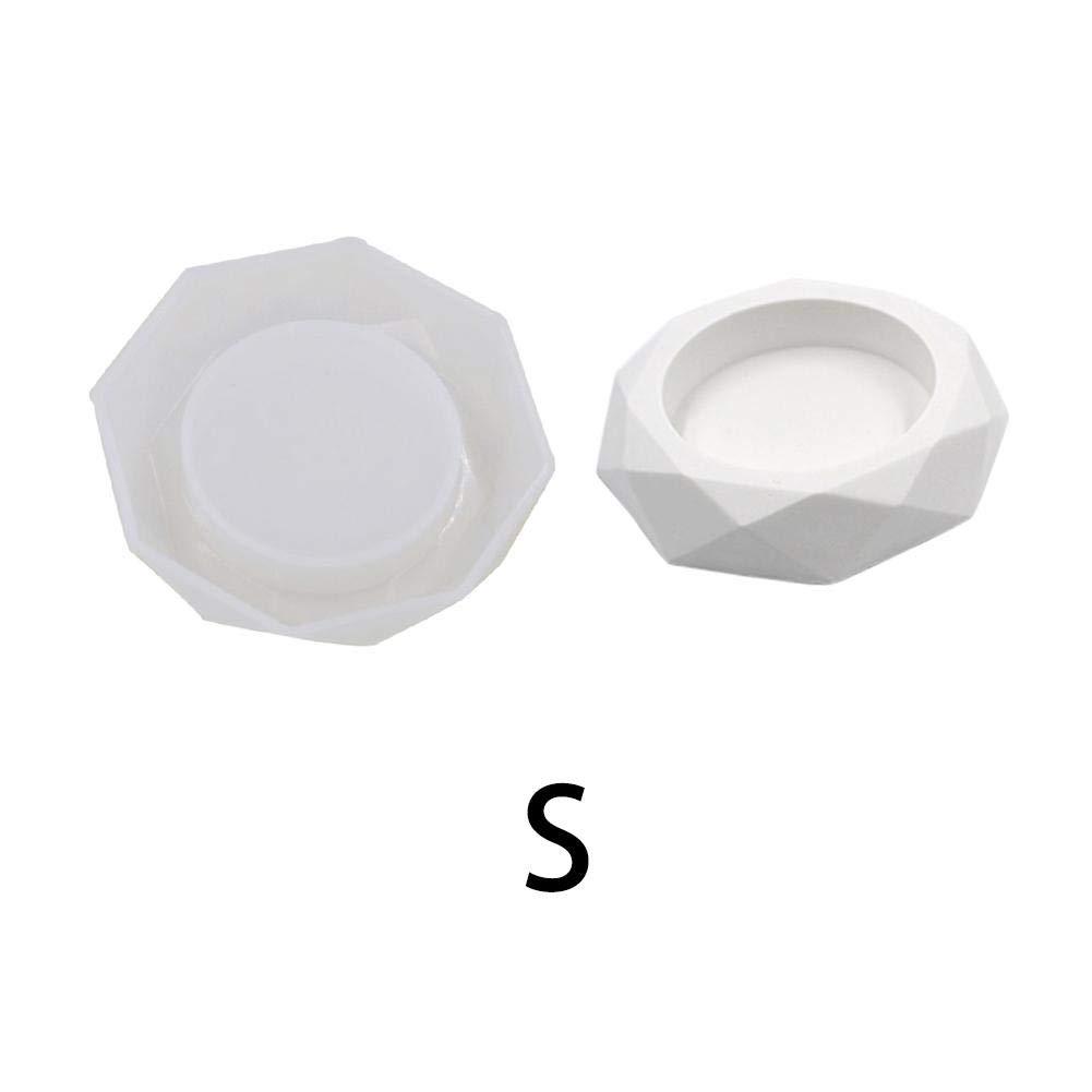 DonLucancy Stampo in Silicone Arte Posacenere Cemento Posacenere in Cemento Sedimento Piastra di stoccaggio Colla in Gesso Resina in Silicone Moldd