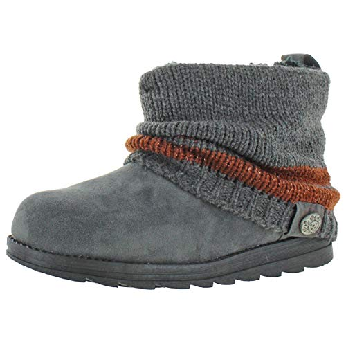 MUK LUKS Women's Patti Cable Cuff Boot, Grey, Size 11.0 (Womens Boots Sweater Size 11)