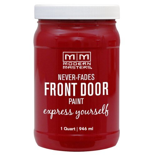 Modern Masters Never Fades Front Door Paint Paint your front door red door makeover