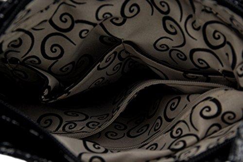 Negro Zeckos Mujer Bolso Bandolera Bolso Zeckos wawqgPX17
