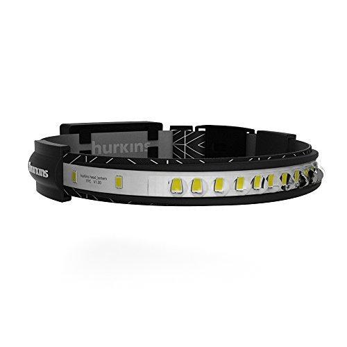 Hurkins Orbit, 180˚ Wide Angle Rechargeable Headlamp (Black, Orbit)