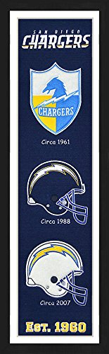 Winning Streak San Diego Chargers Framed Heritage Banner 13x36 inches