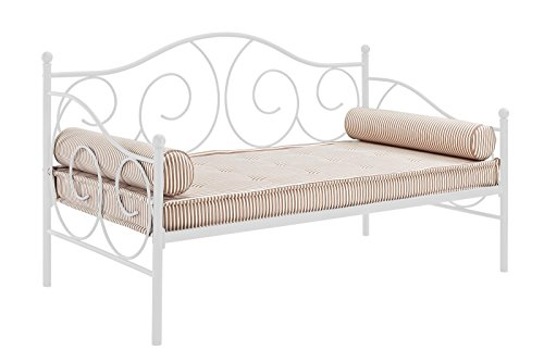 dhp victoria daybed metal frame multifunctional includes metal slats twin size white buy. Black Bedroom Furniture Sets. Home Design Ideas