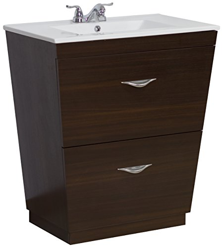 American Imaginations AI-2-1193 Modern Plywood-Melamine Vanity Set, 28-Inch x 18.5-Inch, Wenge Finish by American Imaginations