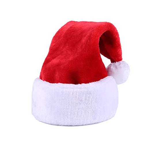 Yansanido 18.5'' Unisex-Adult's Large Santa Hat for Adults Big Santa Hat (1 Pack)
