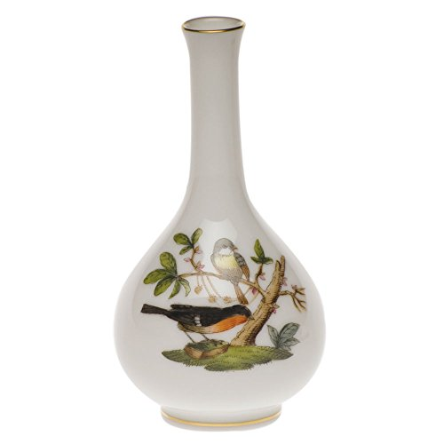 Herend Rothschild Bird Bud Vase (Teardrop Bud Vase)