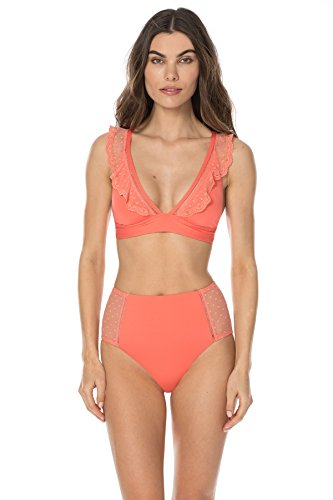 (ISABELLA ROSE Women's Swiss Miss Convertible Strap Top Persimmon L)