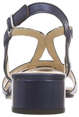 807 Caprice Arrière Bleu navy Bride Sandales 28201 Femme Perlato AqU1g