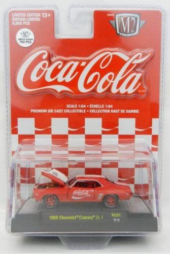 M2 Machines Limited Edition Coca-Cola Detroit Muscle Series - 1969 Chevrolet Camaro ZL-1 Chase
