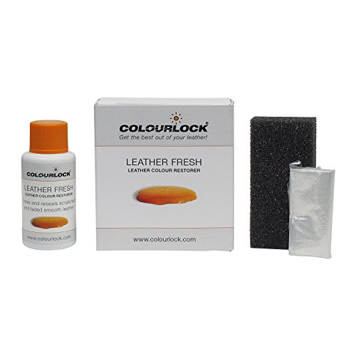 COLOURLOCK Leather Fresh dye is a DIY Repair Color, dye, restorer for scuffs, small cracks on car seats, sofas, bags, settees and clothing (30 ml, F034 - Black) (Top Grain Leather Settee)