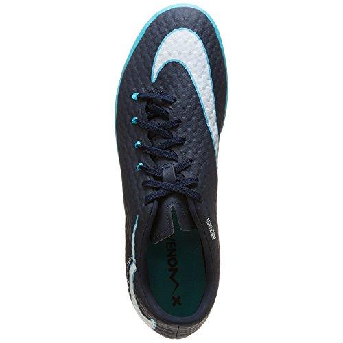 Nike Hypervenomx Phelon Iii Tacchetta Da Interno Ossidiana / Bianco-gamma Blu-blu Glaciale