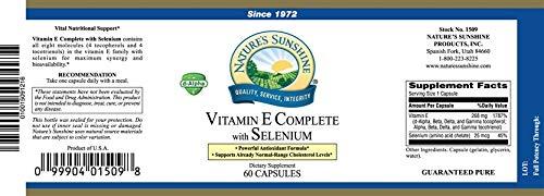 Vitamin E Complete with Selenium â€'' antioxidants â€'' 60 Softgs