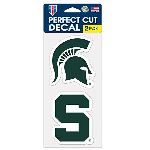 "WinCraft NCAA Michigan State University Perfect Cut Decal (Set of 2), 4"" x 4"""