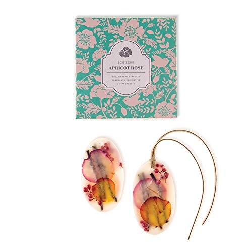 Rosy Rings Oval Botanical Wax Sachets - Apricot Rose by Rosy Rings (Image #1)