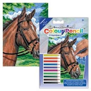 (Royal & Langnickel Mini Colour Pencil By Number Kit: 5x7 Horse )