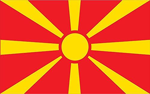 Allied Flag Outdoor Nylon Macedonia United Nation Flag, 2-Feet by 3-Feet