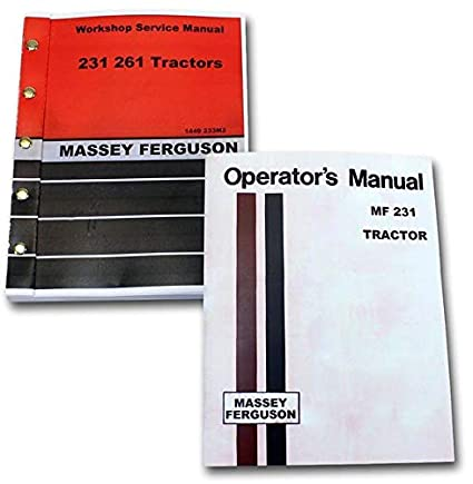 Mf 240 owners manual.