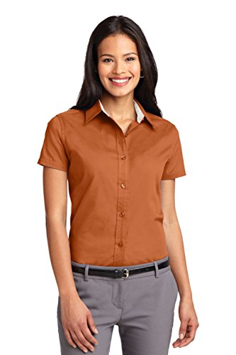 Port Authority Women's Ladies Short L Texas Orange/Light Stone ()