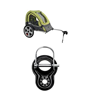 Instep Sync Single Bicycle Trailer Green Gray And