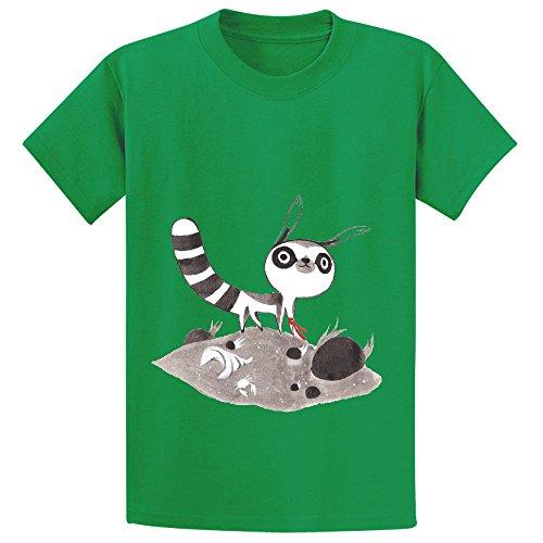 lem-girls-crew-neck-print-t-shirt-green