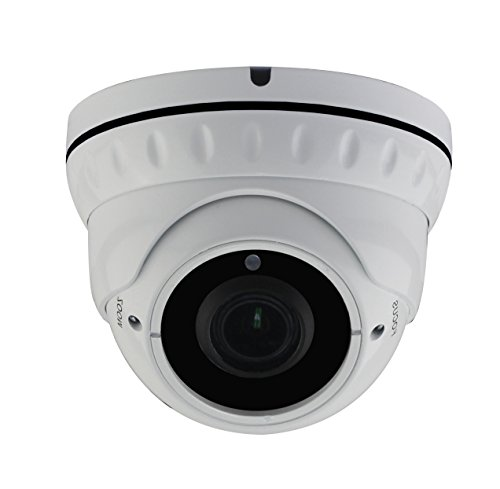 HDView 2.4MP 4-in-1 (TVI/AHD/CVI/960H) 1080P Outdoor SONY Sensor Super Matrix EXIR 2.8-12mm Vari-Focal Lens Turbo Platinum Dome Camera (Vari Focal Cctv Camera)