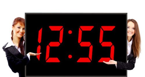 Big Time Clocks 15-Inch Numeral LED Wall Digital Clock with Remote Control, Large ()