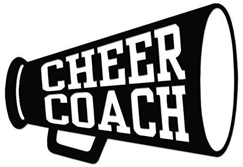 YWS Vinyl Stickers Decals - Cheer Coach Cheerleading - Stickers Laptop Car Truck Window Bumper Home Decor SMA3301