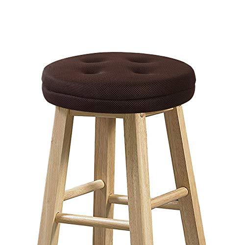 (baibu Bar Stool Cushions, Super Breathable Round Bar Stool Cover Seat Cushion Brown 12