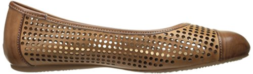 Softwalk Dames Napa Ballet Flat Tan / Baggage