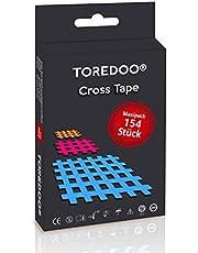 TOREDOO Cross Tape Mix-Box 136 pleisters gemengd, (beige, blauw, roze) accupunctuur trigger pijnpunt roosterpleister acupunctuurpleisters