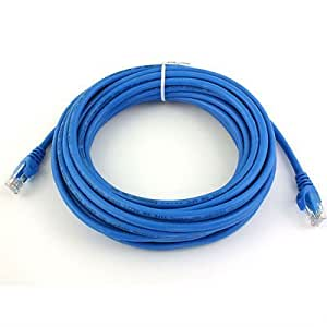 Amazon Com 50 Ft Rj45 Cat6 Ethernet Lan Network Cable For Pc Ps Xbox Internet Router Blue Home