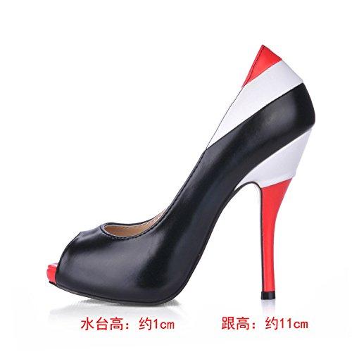 Más Es Fina Solo De Punta Las Mujer Nuevas Shoes Heel Mujeres Peces Caen Alta Maduro Grandes Cualidades Los Zapatos SzXBqzr