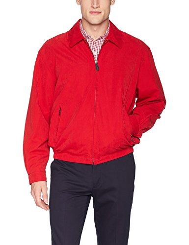 London Fog Men's Auburn Zip-Front Golf Jacket (Regular & Big-Tall Sizes), True red, -