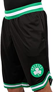Ultra Game NBA Boston Celtics Mens Woven Basketball Shorts, Team Color, Medium
