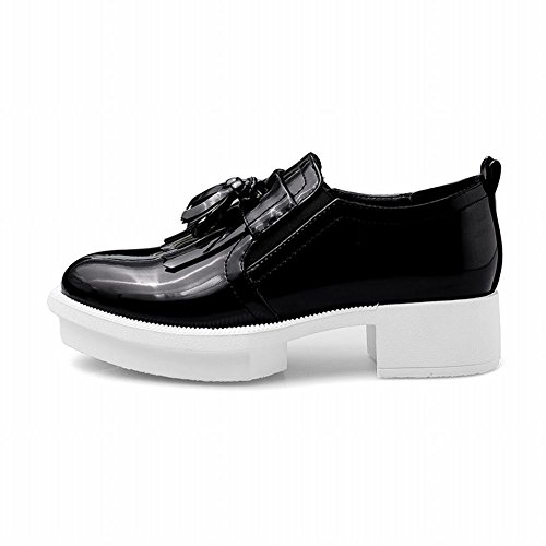 d0501ae37ea lovely Latasa Women s Fashion Shiny Tassel Platform Chunky Loafers Slip ons