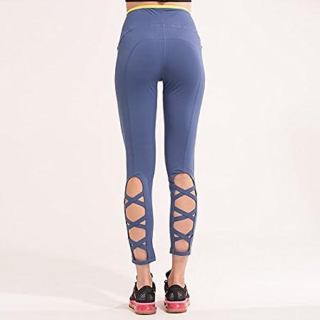Womens Workout Leggings Criss Cross Calf Legging With Contrast Waistband Stripe