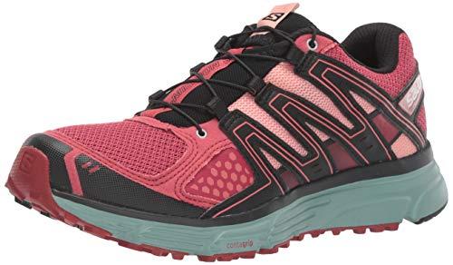 Salomon Women's X-Mission 3 Trail Running Shoes, Garnet Rose/Trellis/Coral Almond, 8.5