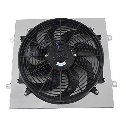 CoolingCare Aluminum Shroud+ 14'' Fan for 1964-66 Ford Mustang/ 1963-65 Mercury Comet 4.3L 4.7L