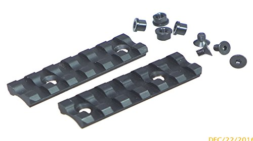 (TufForce 6 Slots Keymod Rail to fit for Flat or Curved Surface Mounting Base, 2 Pieces in Per Package, MT-6K, Length 65mm / 2.6
