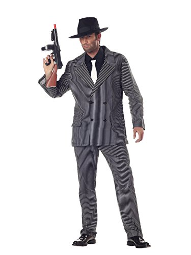 California Costumes Men's Gangster Costume, Black and White Medium ()