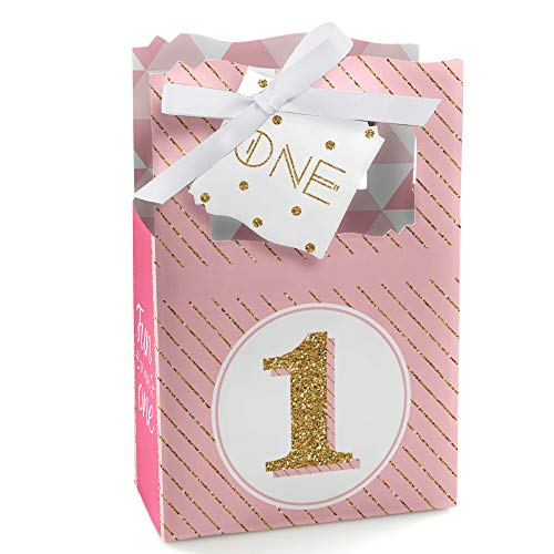 1st Birthday Girl - Fun to be One - First Birthday Party Favor Boxes - Set of 12 (Best Place For 1st Birthday Party)
