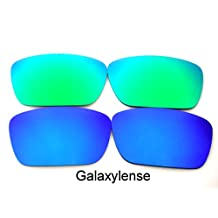 Galaxy Replacement Lenses for Oakley Fuel Cell Blue&Green Color Polarized, 2 Pairs
