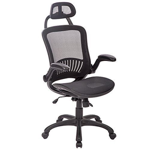 BestMassage Ergonomic Mesh Office Chair Swivel High Back Computer Desk Task Chair with Back Lumbar Support and Flip-up Arms by BestMassage