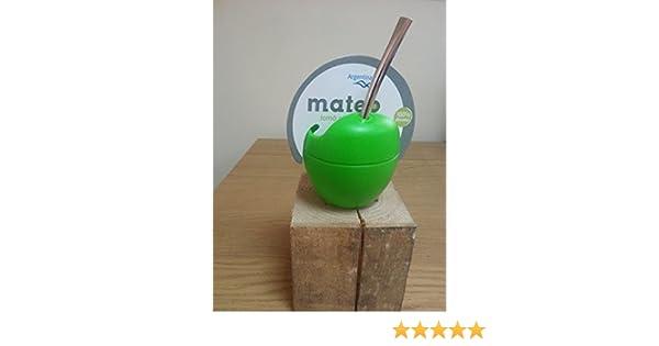 Mate Mateo - Yerba Mate silicona Calabaza de con bombilla: Amazon.es: Hogar