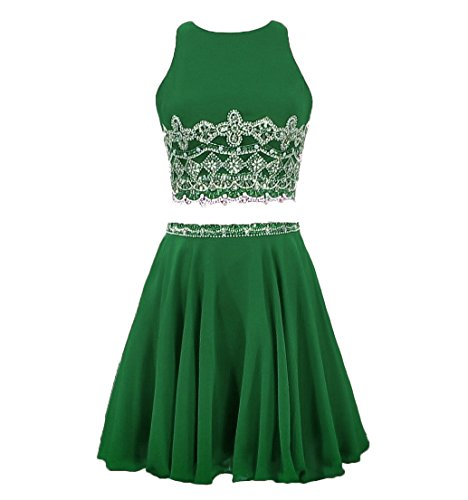 2 Piece Beaded Evening Gown - 6