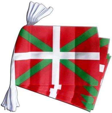 España vasca de banderines de 9 m: Amazon.es: Hogar
