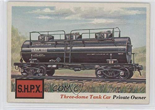Three-dome Tank Car (Trading Card) 1955 Topps Rails and Sails - [Base] #13